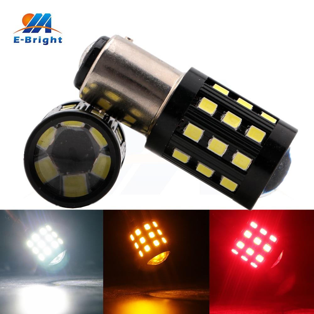 4pcs 12V 24V 2835 33 SMD 1156 1157 Car Auto LED Bulb Front Turn Warning Signal Parking Side Marker White Red Amber Light