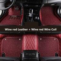 Авто Коврики для Land Rover Range Rover Evoque 3 двери 2011 2017 футов ковры шаг Коврики Вышивка кожа Провода катушки 2 Слои