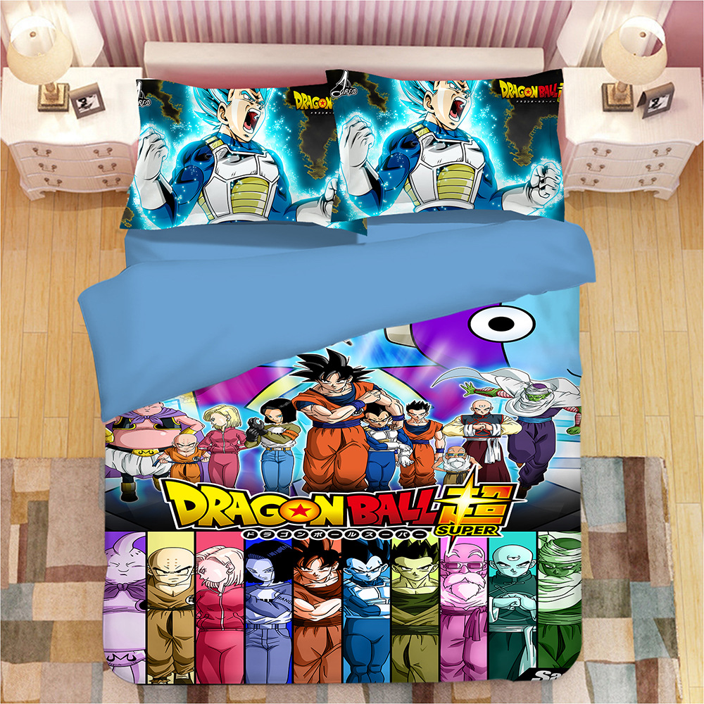 Dragon Ball 3d Cartoon Druck Bettwäsche Set Bettbezüge Bettbezug
