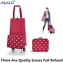 Portable Shopping Bag Womens Big Buy Vegetables Trolley Bags On Wheels The Market Folding Pull Cart Shopping Bags For Organizer