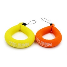 TELESIN Floating Strap 2-pack for Underwater Gopro & Action Cameras Swimming, Diving, Sea Fishing or Others(Yellow&Orange)