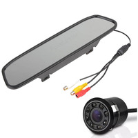 Rearview Mirror Monitor 8 LED Reverse Parking Camera 4 3 Inch Rearview Monitor 8LED Rearview Camera