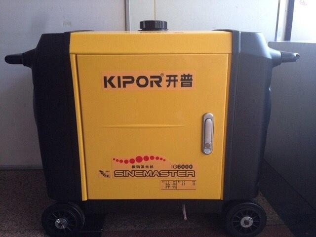 US $2268 6 5% OFF|Verzending Inverter Generator IG6000 Kipor 5 5kVA 6 0kVA  220 V/50Hz Stille generator benzine Outdoor veld wilde blazen in Verzending