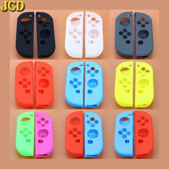 JCD 1 pièces accessoires de jeu couvercle de boitier en silicone souple peau gauche droite pour interrupteur nessa NS Joy Con contrôleur de Console