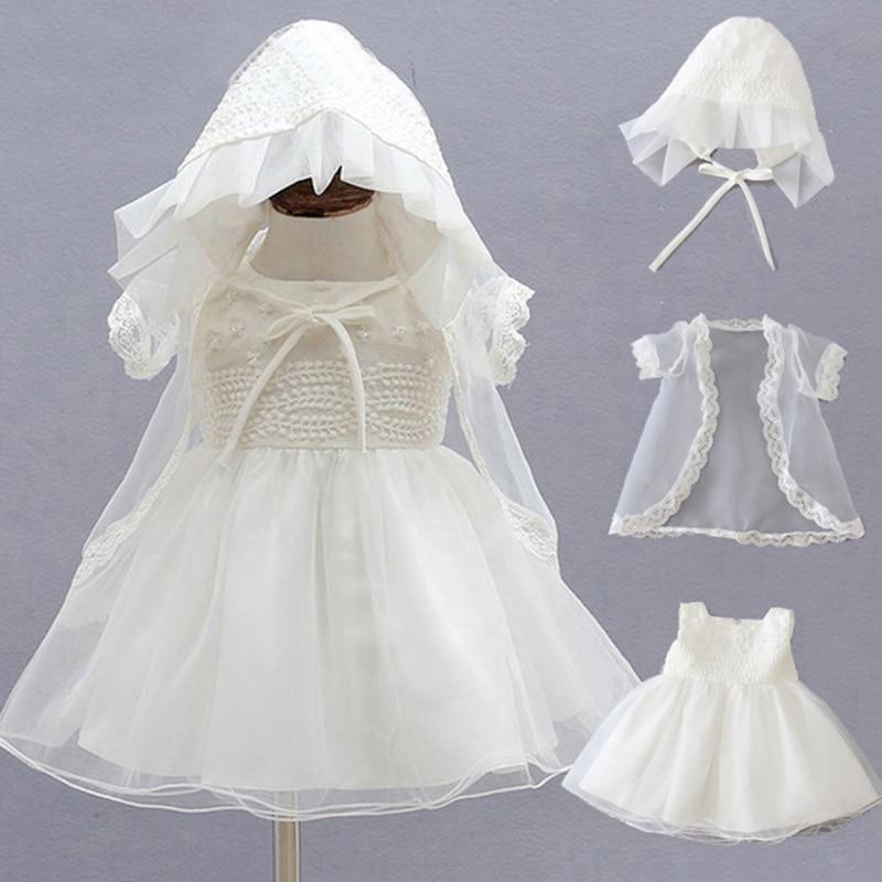 3ks / Sada Letní 1 Rok Narozeninové šaty Handmade Lace Party - Oblečení pro miminka