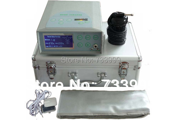 HOT!!!!! Health care Detox Machine Ionic Foot Spa Bath Machine with TENS pad and FIR belt Detox foot spa Promotion 2pcs/lot 2017 hot foot spa machine ion cleanser foot spa machine detox machine foot health care
