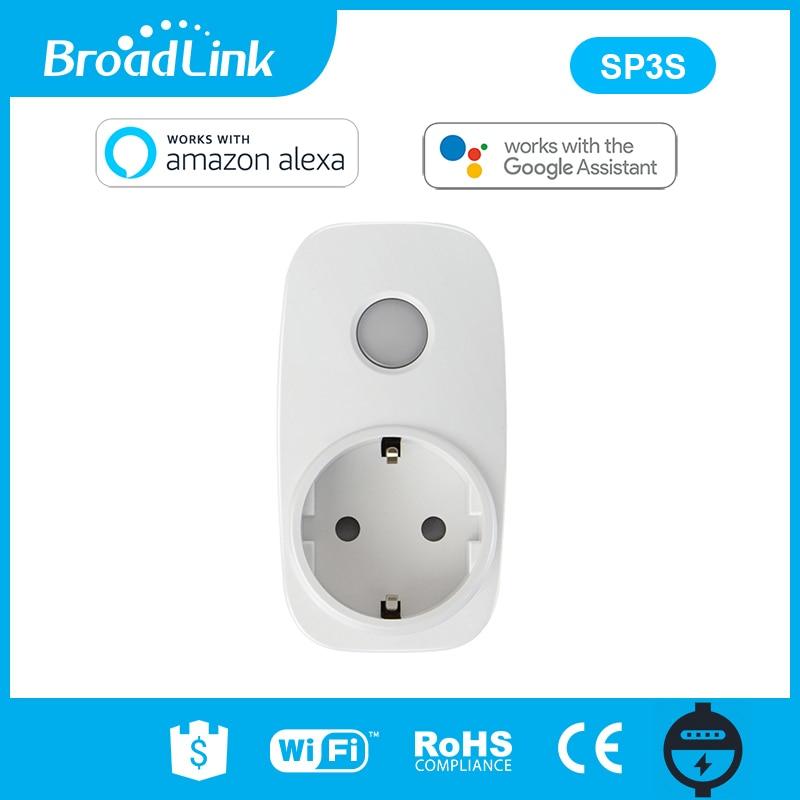 Broadlink SP3S EU/Contros Smart Wireless WiFi Buchse Power Versorgung Stecker 16A 3500 W Mit Energie Meter IOS Android Fernbedienung