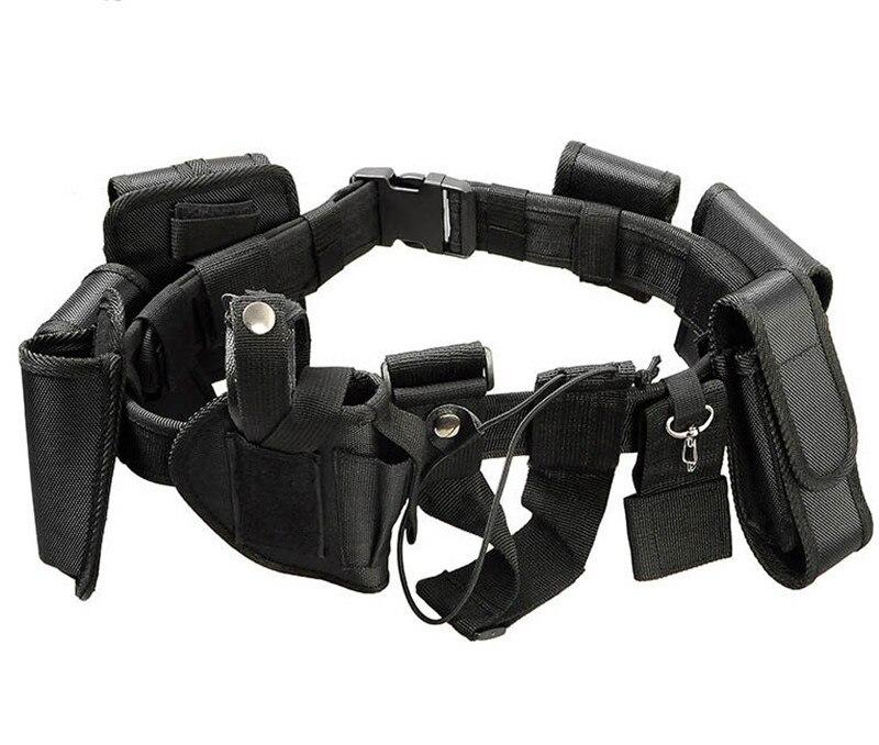 Combat Tactical airsoft Caza policía bolsa cinturón correas de nylon fortalecimiento entrenador bolsa cinturón Tactical cintura