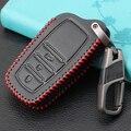 Кожаный чехол для автомобильного ключа с 3 кнопками, чехол для Toyota Highlander, Land Cruiser, Рие 86, Hilux, Innova, Fortuner, Rav4, Camry, Prado Shell