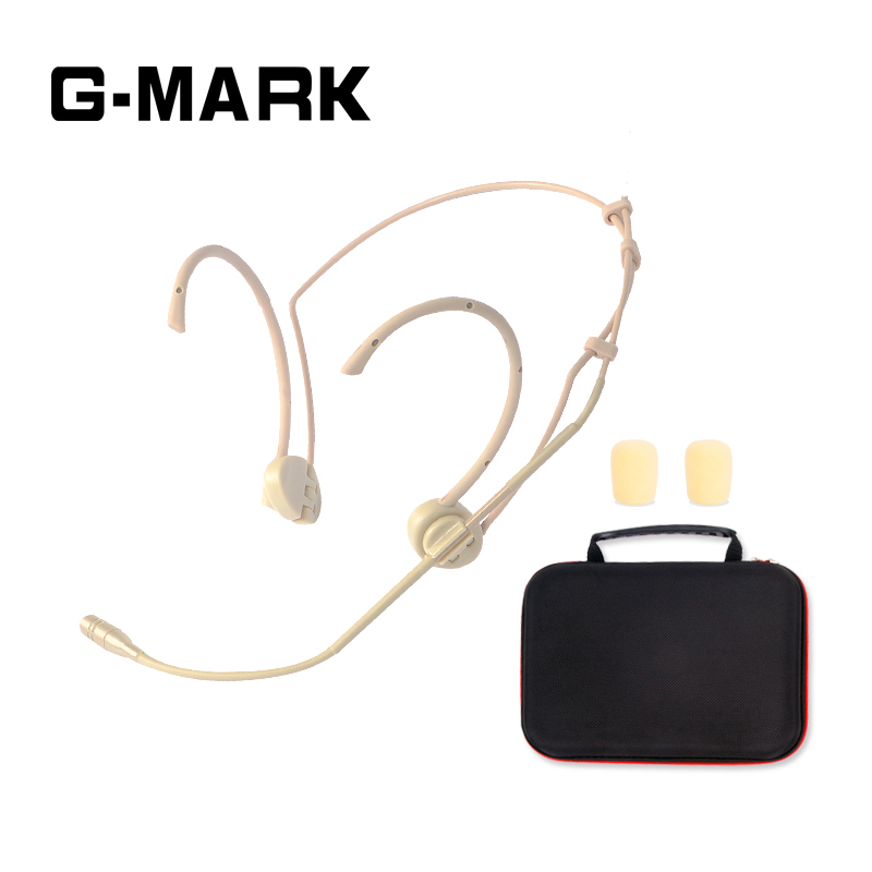 G-MARK Professional Headset Unidirectional mic For Wireless Microphone System transmitter Lightweight Sensitive and clear professional vocal set wireless microphone system for crystal clear sound with range of 80 meters l 706