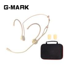 G MARK المهنية ميكروفون سماعة الرأس لنظام لاسلكي الارسال عقال ميكروفون مع 1 صندوق الصوت الحساسة وواضحة