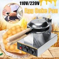 50 250 Electric Egg Cake Maker Oven Iron Nonstick Waffle Bread Baker Maker Machine Simple Operation US/EU Plug Stainless Adjust