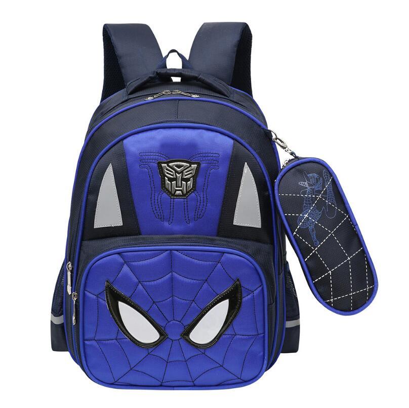 Cartoon <font><b>Spiderman</b></font> Orthopedic schoolbags <font><b>Backpack</b></font> boy Shoulder bag Males <font><b>Large</b></font> Capacity leisure bag Waterproof nylon school bag