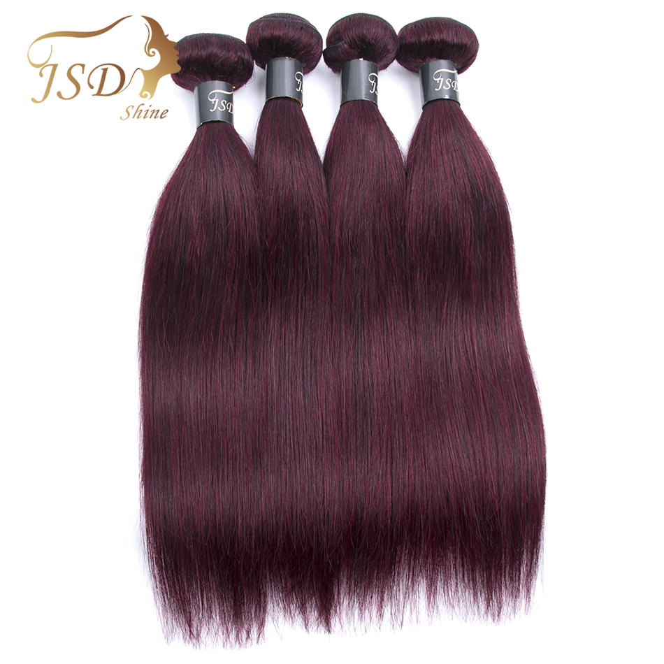 Hair Extensions & Wigs Nice Ali Pearl Hair 99j Bundles With Closure Human Hair Burgundy Brazilian Straight Hair 3 Bundles With Closure Remy Hair Extension Be Friendly In Use