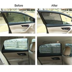 Image 5 - For TOYOTA COROLLA Sedan 2014  Magnetic Net Car Window Visor Side Rear Windows Blinds Windshield Sunshades Foldable Easy Storage