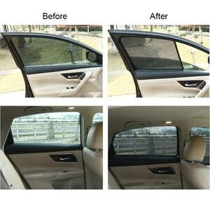 Image 5 - สำหรับ TOYOTA COROLLA ซีดาน 2014 แม่เหล็กรถหน้าต่าง Visor ด้านหลัง Windows ผ้าม่านกระจก Sunshades พับ Easy Storage