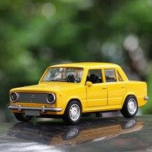 1/32 Lada Legering Klassieke Retro Model Auto Speelgoed Russische Pull Back Gegoten Auto Speelgoed