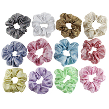 Sale Glitter Scrunchies Hair rope Girls Headband Hair Accessories Elastic Hair Bands Women Rubber Ponytail Holder