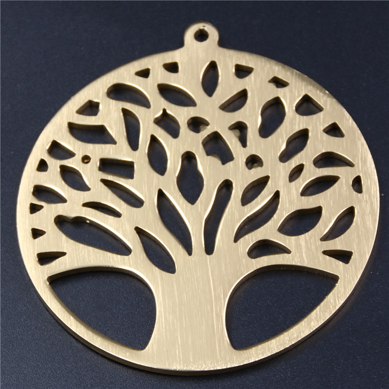 2pcs environmental protection aluminum alloy ring the tree series necklace earrings antique gold charm jewelry pendant findings