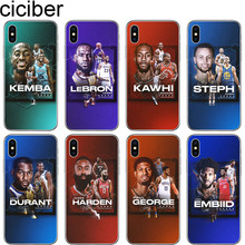 cicibers Basketball James Harden Durant Soft Silicone Phone Cases Cover for Iphone 11 Pro Max 8 7 6 S Plus 5S SE X XR XS MAX