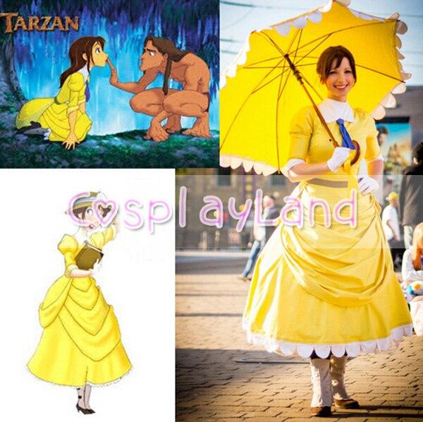 77722f9f3 € 91.95 |Disfraz de Cosplay de Tarzán vestido de princesa vestido de fiesta  de Halloween para mujeres adultas hecho a medida disfraz de Cosplay en ...