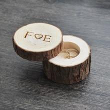 Caixa Do Anel de casamento feito sob encomenda/dia dos namorados Aniversário de Madeira caixa do anel Caixa do Anel de madeira 4 estilos(China)