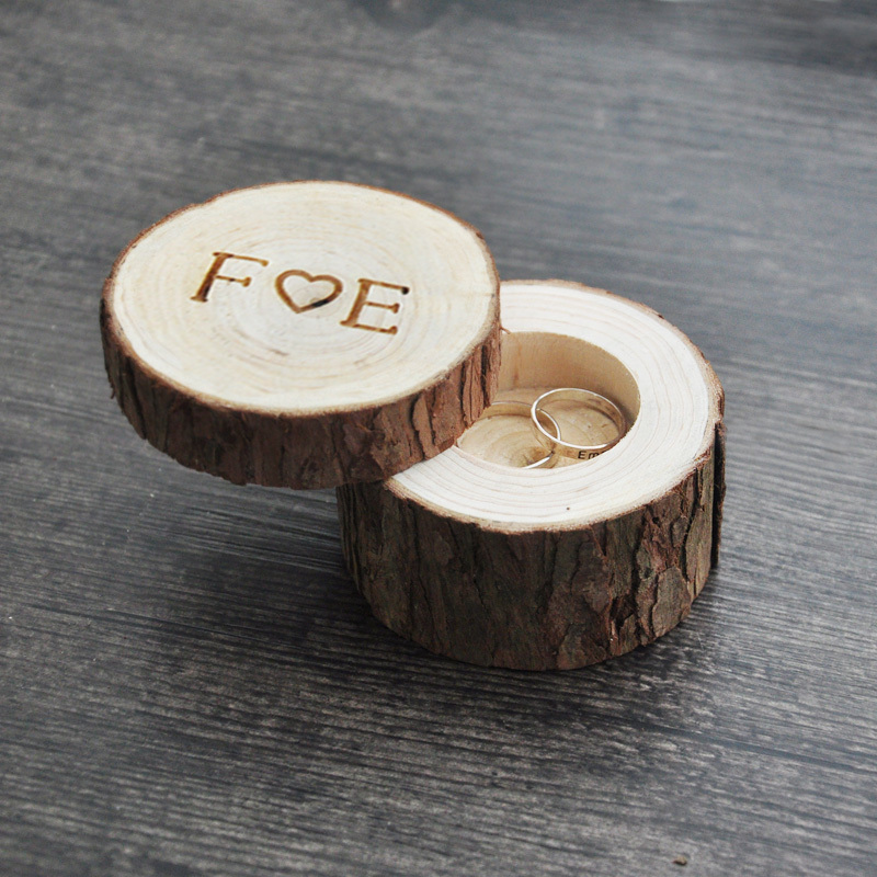 custom ring box weddingvalentines wooden ring box wood anniversary ring box 4 styles - Wedding Ring Boxes