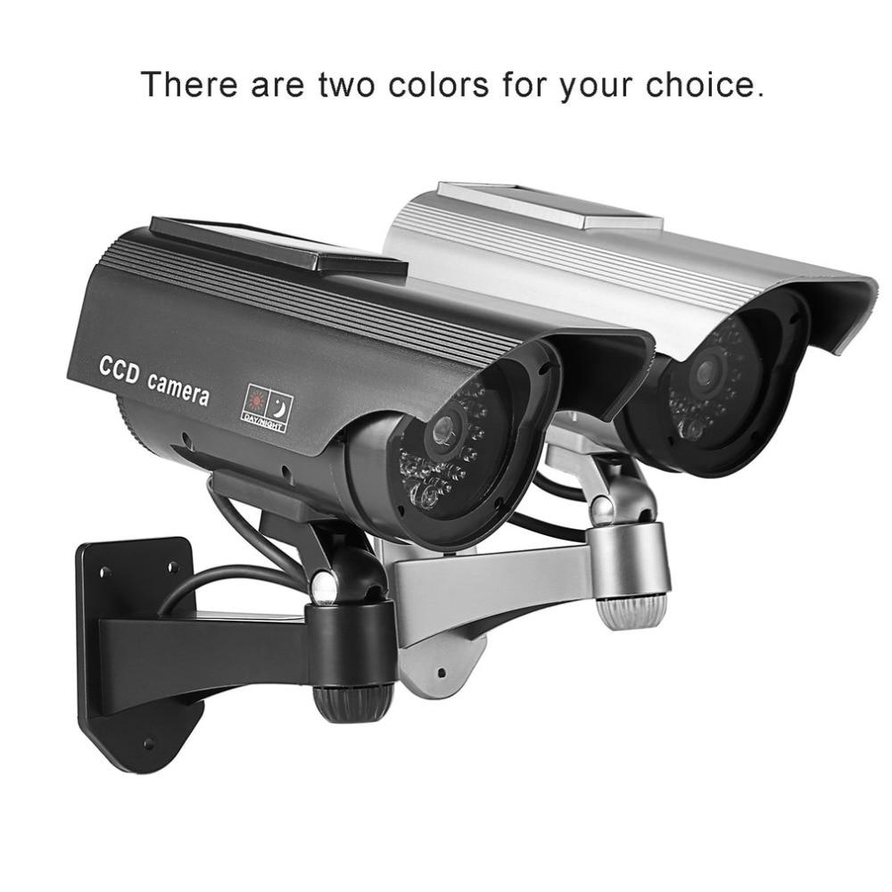 Dummy Solar Powered Camera High Simulation CCTV Fake Camera Flashing Led Red Light Home Security Battery Camera Monitor scare thieves simulation monitor camera
