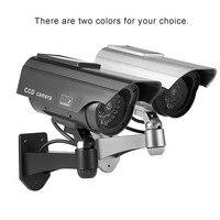 Dummy Solar Powered Camera High Simulation CCTV Fake Camera Flashing Led Red Light Home Security Battery