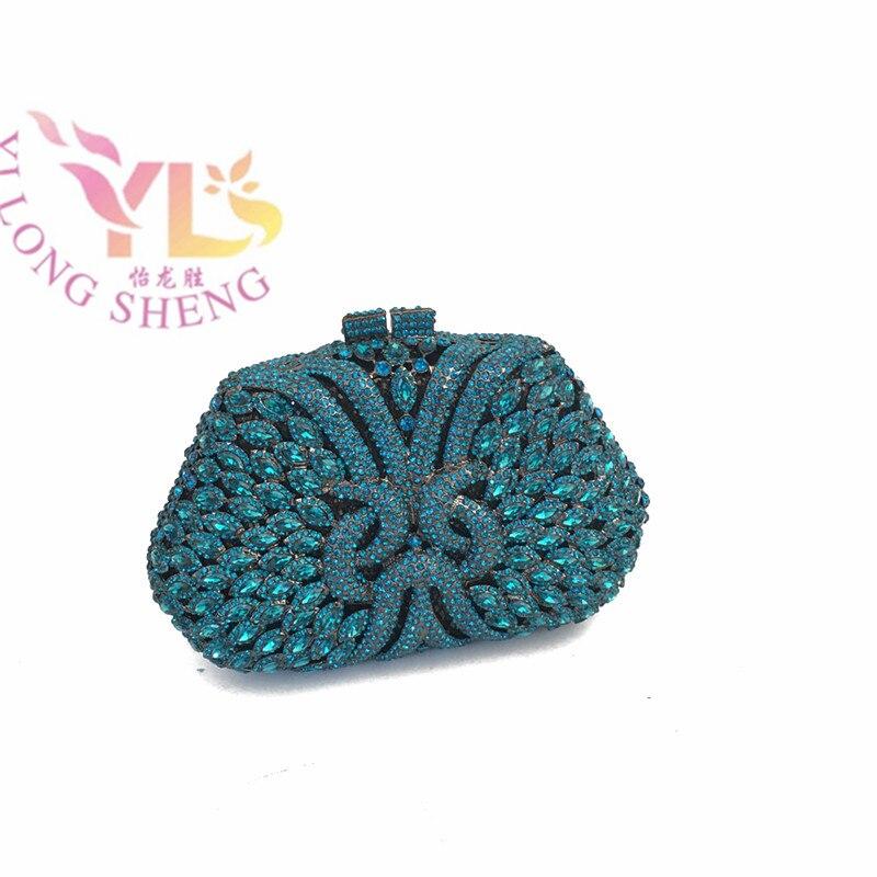 Crystal Metal Clutch Bag with Stone 2017 Luxuriant Rhinestone Clutch Bags for Women Evening Hand Purse YLS-G27 asds 1pc metal rhinestone frame for purse bag bronze clear rhinestone 8 7x6 7cm