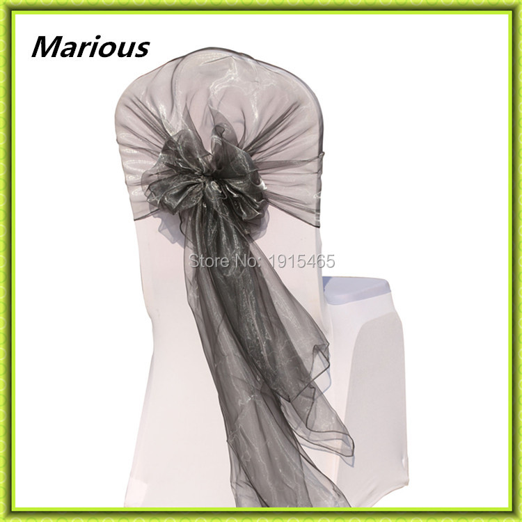 Hot sale !!! hot sale ! organza chair hood colorful & chair cover sashes for wedding chair hood decoration free shipping