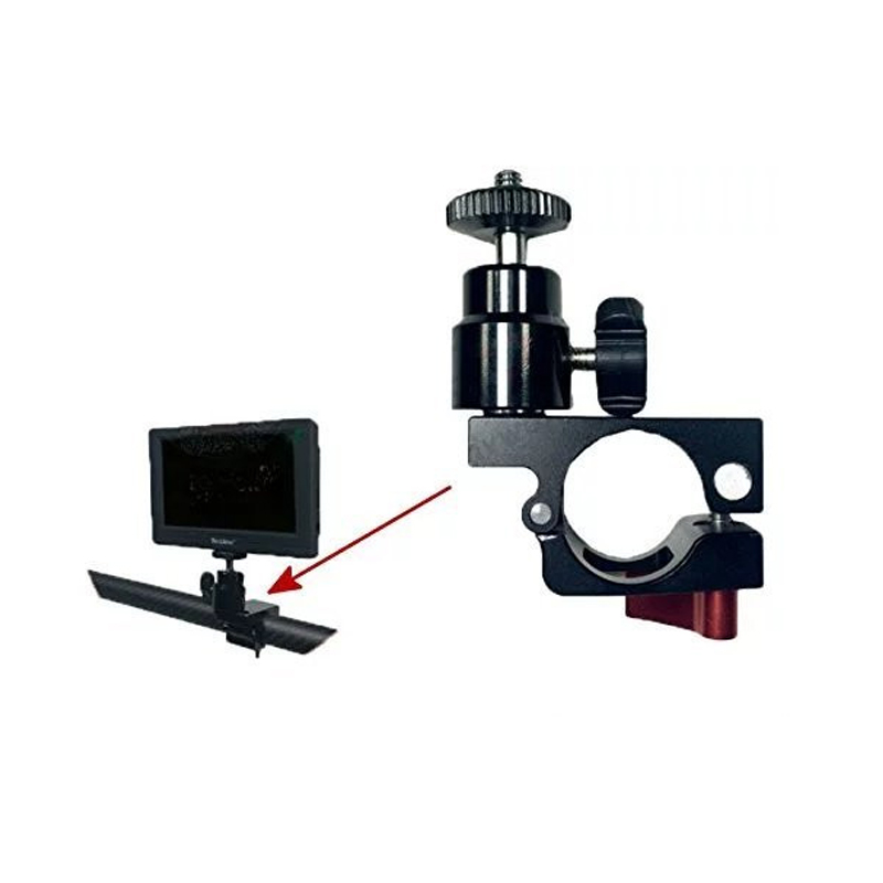 Vitopal Clamp Holder Mount for Feelword Aputure monitor Mounted on DJI Ronin M Gimbal Stabilizer