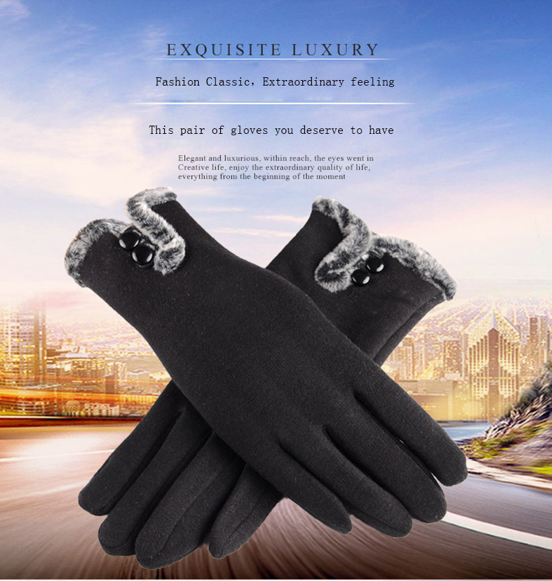 Comfortable and Warm Non Inverted Touch Screen Gloves for Women with Sensitive Touch Screen Function without Hand Exposing to Cold 7