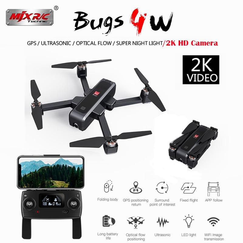 MJX B4W Drone GPS bezszczotkowy 5G WIFI FPV 2K kamera HD 1.6km odległość sterowania ultradźwiękowy składany RC quadcopter Drone Profissional w Helikoptery RC od Zabawki i hobby na  Grupa 1