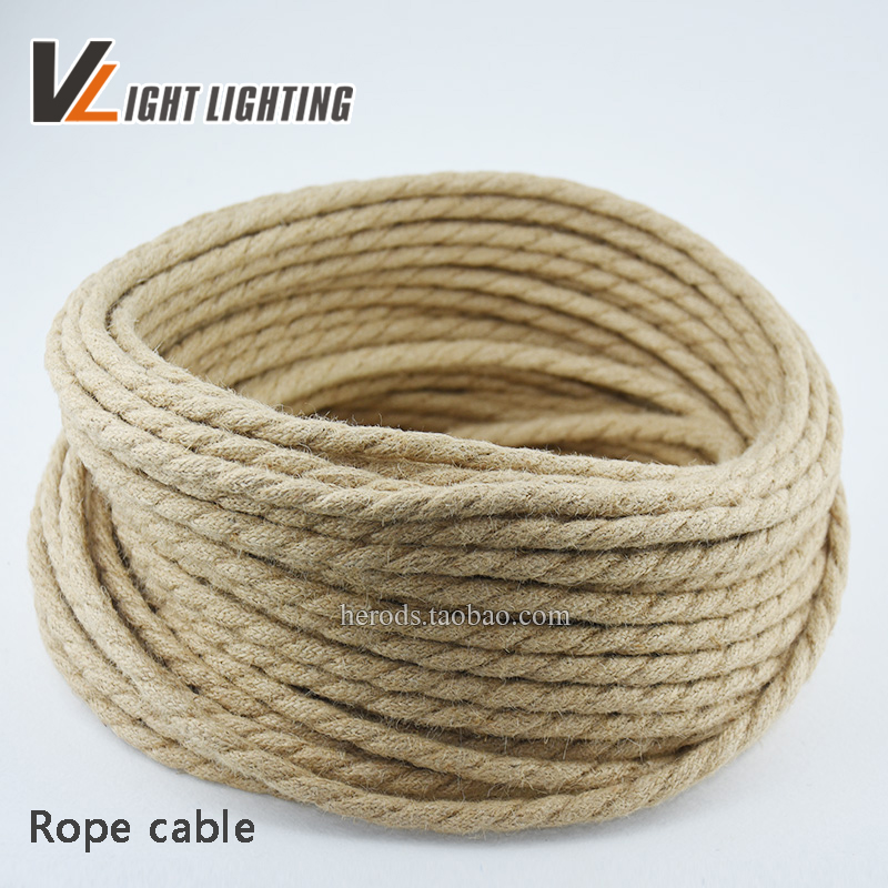Price Of 2 Copper Wire | Hot Sale 10m Lot Wholesale Price Vintage Rope Fabric Copper