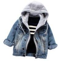 Infant Boys Coat 2017 Spring Autumn Baby Boys Jackets For Boys Jeans Jacket Kids Denim Hooded