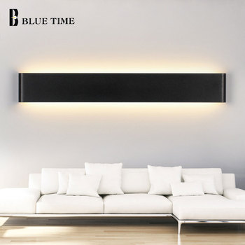 111cm Large Modern Led Wall Lights For Living room Bedroom Bedside light Wall Sconce Barthroom Lamp Wall Lamp Black&White Lustre lustre crystal modern led wall lamp lights with 1 light for home lighting lustres wall sconce free shipping