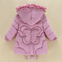 Toddler Girls Winter Coats Kids Down Jackets 2018 Teenager Hooded Cotton Padded Thicken Baby Snowsuit Winterjas Meisjes Costume