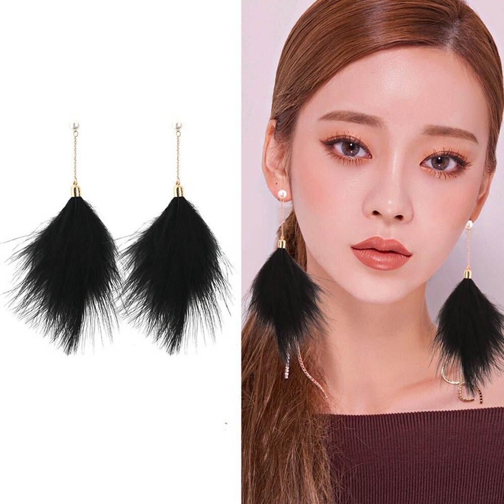 1 Paire Fashion Elegant Women Pearl Ear Hoop Goutte//Dangle Boucles d/'oreilles Bijoux 5 couleurs