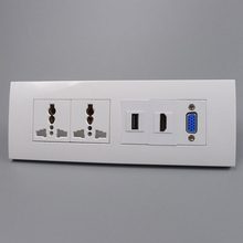 все цены на New Universal Wall Power Socket VGA HDMI USB Socket  Multi-function Wall Socket онлайн