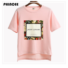 Short sleeve T-shirt women Print Floral Loose T Shirts 2017 Spring Summer Hot O-neck Top Tees Female Tshirt Ladies Clothes femme