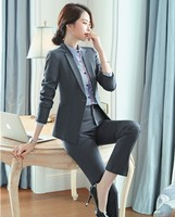 High Quality Fabric Uniform Styles Business Suits With Pants and Jackets Coat For Ladies Office Work Wear Pantsuits Blazers