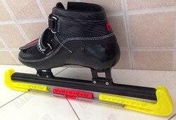 Бесплатная доставка для взрослых скорость льда лезвия для коньков крышка 42 см --- 46 см