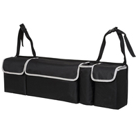 Car Trunk Organizer Adjustable Backseat Storage Bag High Capacity Multi use Oxford Car Seat Back Organizers Interior Accessories