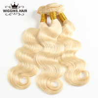 Wiggins 613 Blonde Hair Bundles Malaysian Body Wave Hair Weave100 Platinum Human Hair Extension 10 24