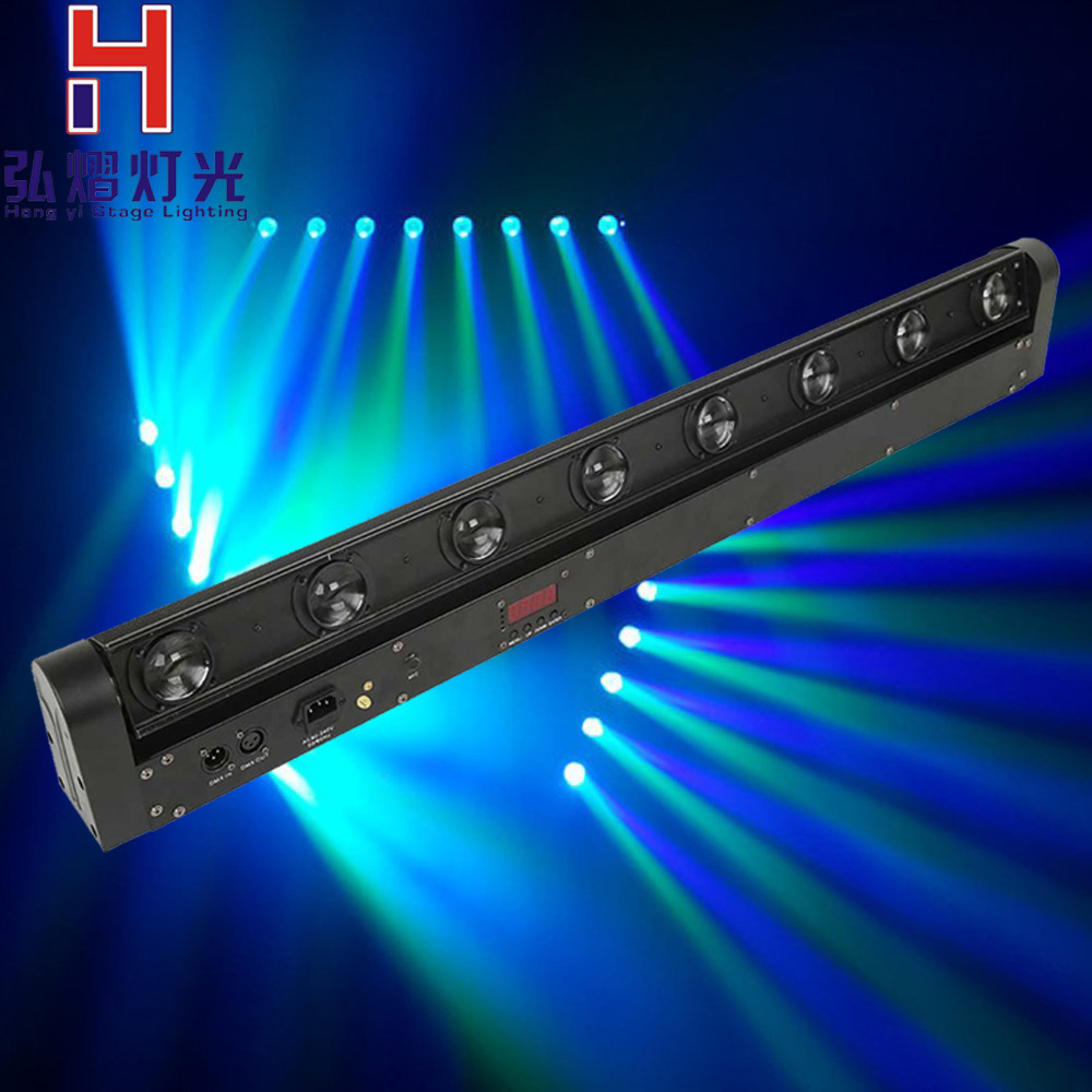 Fascio di luce della fase 8*12 w RGBW Led Fascio Bar Washer Luce LED Fascio Bar Moving Head Light DMX 512,9/38 Canali DJ Mostra