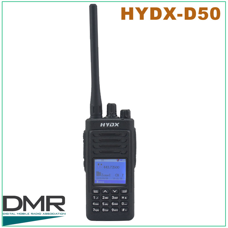 Original UHF DMR HYDX D50 UHF 400 470MHz DMR Digital Portable Two way Radio DMR Radio