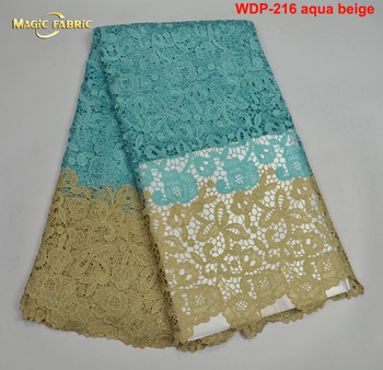 african guipure lace fabric high quality african cord lace fabric sky blue 5yards cheap nigerian wedding lace fabric guipure