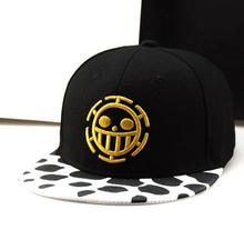 Wholesale Women Men Hip Hop Snapback Caps Flat Hat Lots Anime One Piece Hat Baseball Cap Trafalgar Law Hats Cosplay Caps Hat стоимость