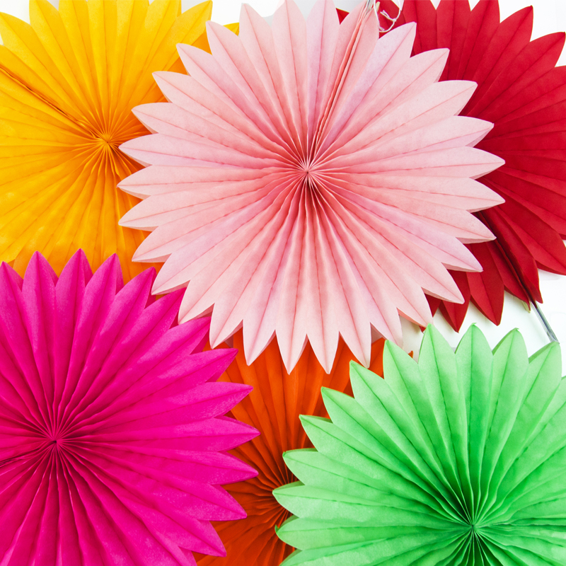 Diy Origami Fan Flower Wedding Decoration Window Background Paper Garland Festive Party Supplies Christmas Home Deco On Aliexpress